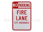 "No Parking, Fire Lane 12"" x 18"" sign"