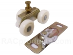 Sliding booth door wheel trolley kit