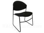 Black padded stack chair