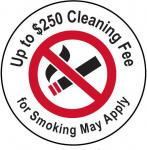 "1.5"" Single sided ""No Smoking"" sticker"