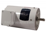 Enclosed and fan cooled rocker brush motor